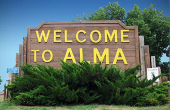 1. Alma, Harlan County, population 1,133