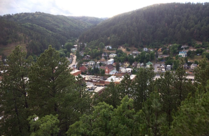It is perched on the hills overlooking Deadwood with a mesmerizing view.