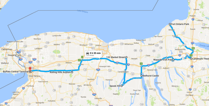 To view the entire mapped out trip on Google Maps, click here!