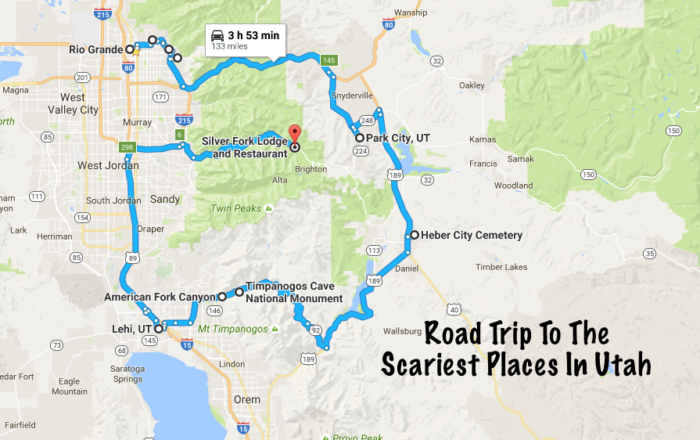 This road trip is 133 miles long, and would take you nearly four hours to complete, if you drove through without stopping.