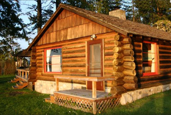 The cabins are cozy and comfortable.