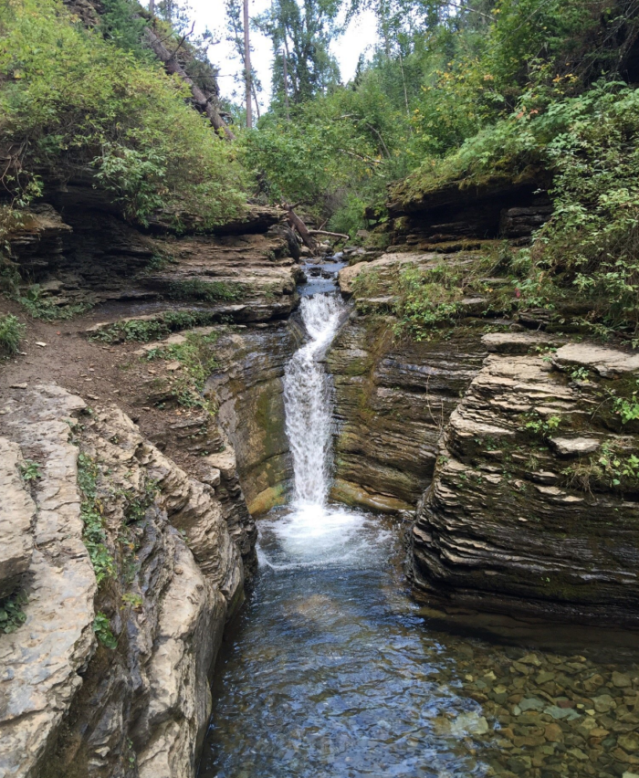 The most popular spot is the bathtub itself, a deep point in the creek below a waterfall that you can swim in.