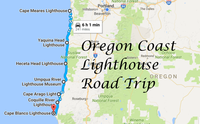 Oregon Coast Lighthouses Map Take A Beautiful Lighthouse Road Trip On The Oregon Coast