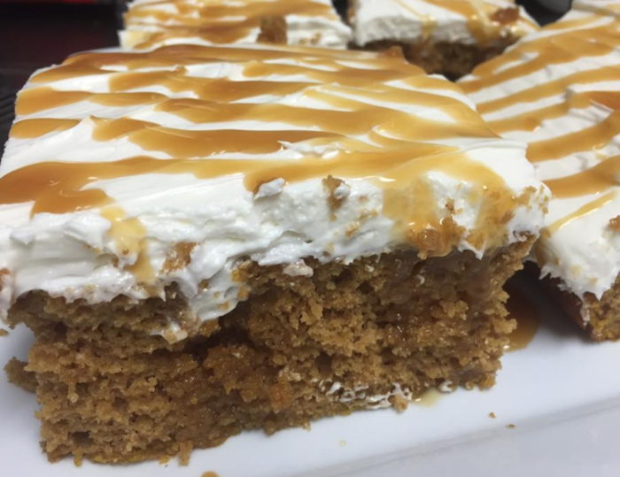 Or maybe you're more in the mood for this delectable moist pumpkin cake with homemade frosting. Yum.