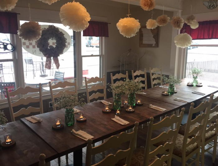 Nona's used to be an old house, until it was transformed into this adorable restaurant with finger-licking good American food. Call ahead, and she may even dress it up for a private event.