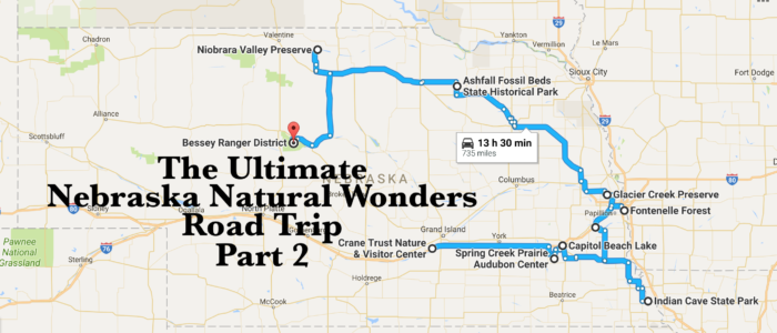 The Ultimate Eastern Nebraska Natural Wonders Road Trip - State map of nebraska
