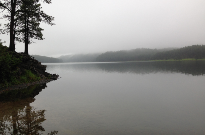 This lake is known as Sheridan Lake, but at one point in time, it was not here.