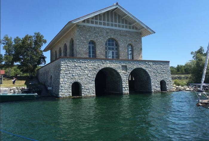 The historic Rock Island Lighthouse isn't the only building on this car-free island.