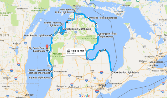 See Some Of Michigans Most Historic And Scenic Lighthouses On This