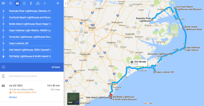 This Lighthouse Road Trip In North Carolina Is A Must Do - Map of north carolina coast