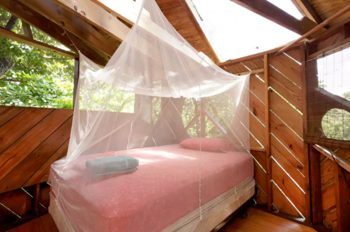 The interior is simple, yet sophisticated. Can't forget the mosquito netting, though. This is Florida, after all.