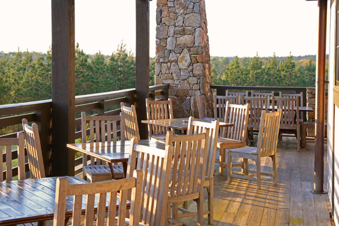Or perhaps you'd much rather have an outdoor dining experience to enjoy the gorgeous scenic views. SpringHouse has you covered for that, too.