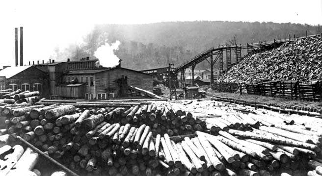Spruce was a historic logging and railroad town.