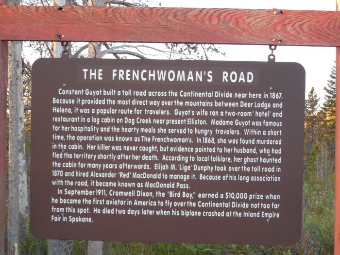 1. The Frenchwoman's Road, MacDonald Pass