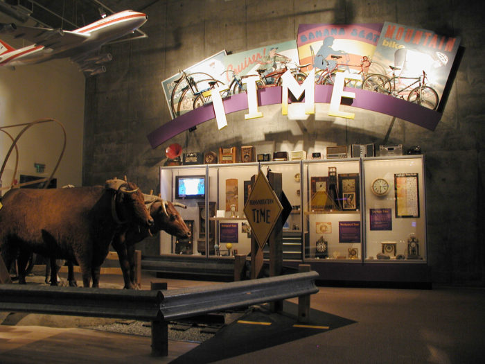 You can even see Ezra Meeker's actual oxen, Dave and Dandy.