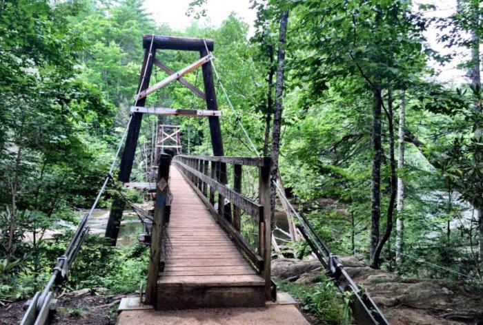 10. Toccoa River Swinging Bridge