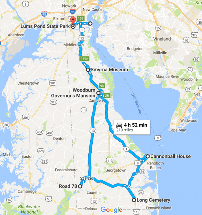 See the spookiest places in Delaware by following the directions below.