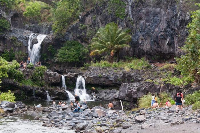11. Visting Maui's Ohea Gulch.