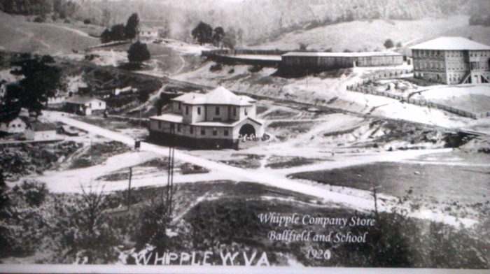 The Whipple Company Store served the town surrounding the  the New River Company Whipple mine from 1890 to 1954.