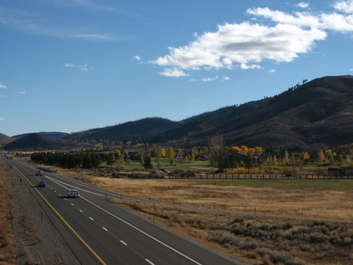 7. Enjoy Washoe Valley color from U.S. Route 395.