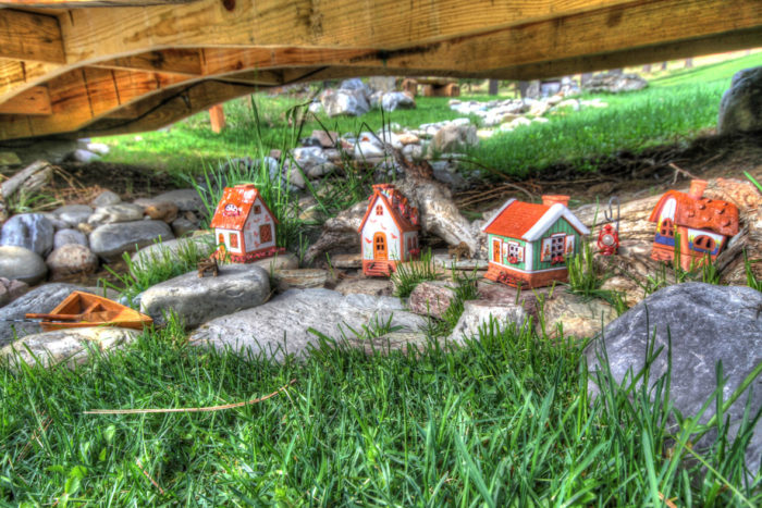 Walk around the property and you'll see tiny fairy houses, tiny villages, and possibly some wildlife.