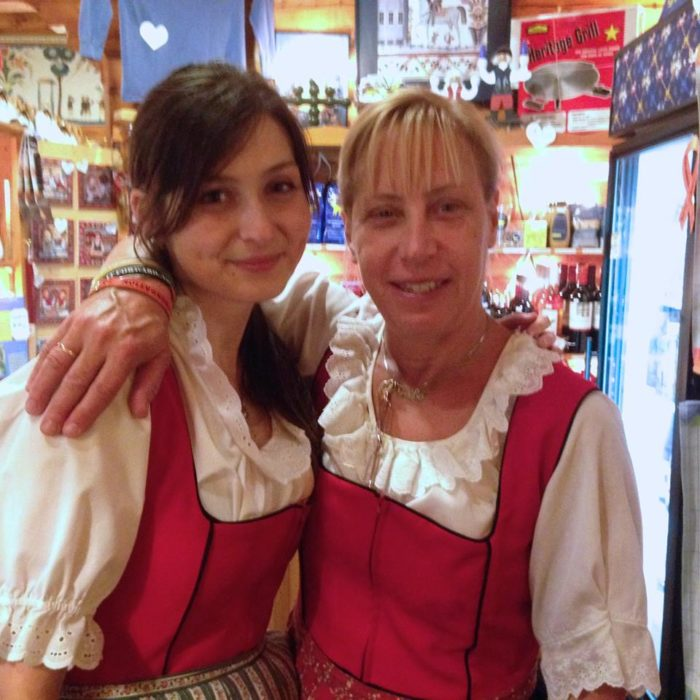 Waitstaff dress in traditional Swedish garb, and there is a gift shop with Swedish gifts.