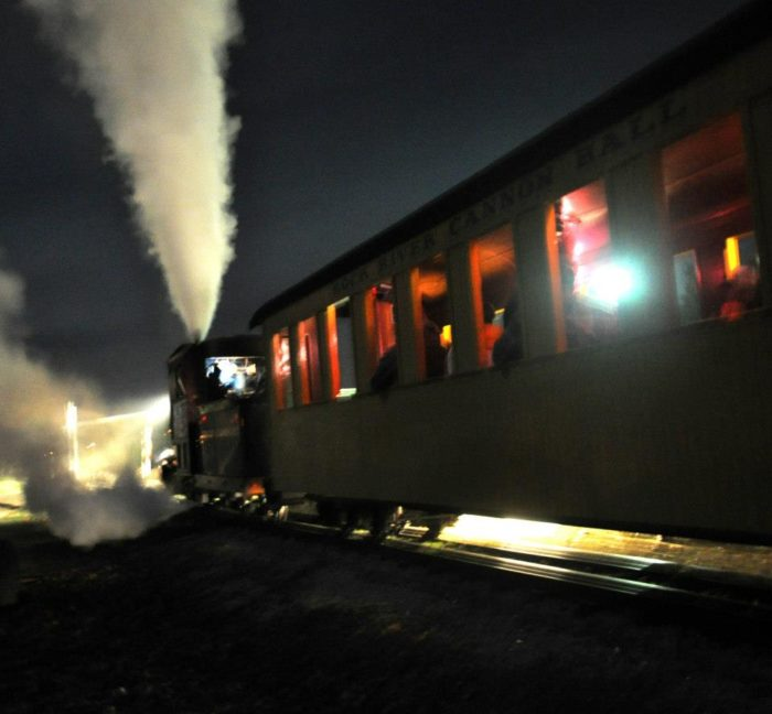 This is a coal-burning train, and it is pretty great.