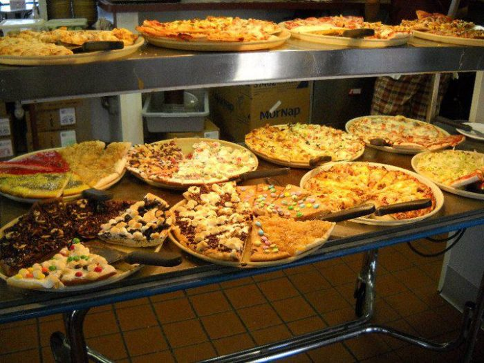 Now this is how you make a pizza buffet. And get this: it's free on your birthday!