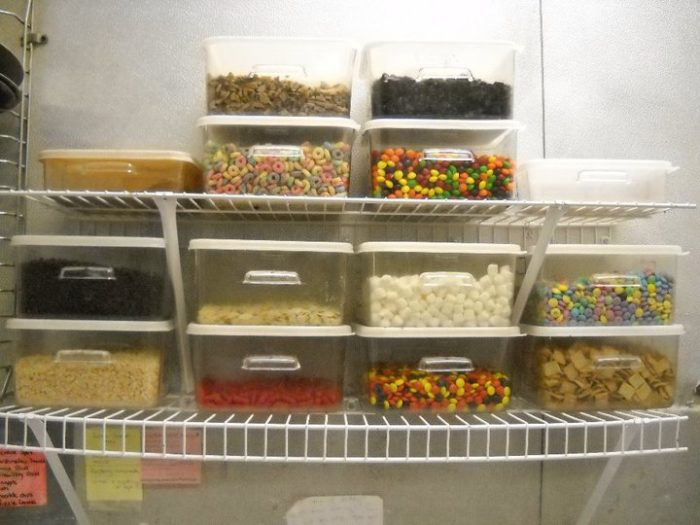 But one look in their pantry at their toppings, and you can tell this isn't your standard pizza place.