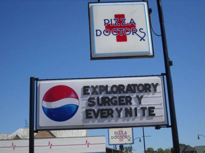 The exploratory surgery that the Pizza Doctors are doing is serving you some off-the-wall pies.