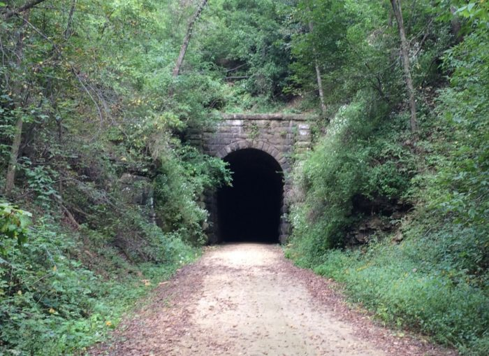 But one of the coolest features is the old tunnel.