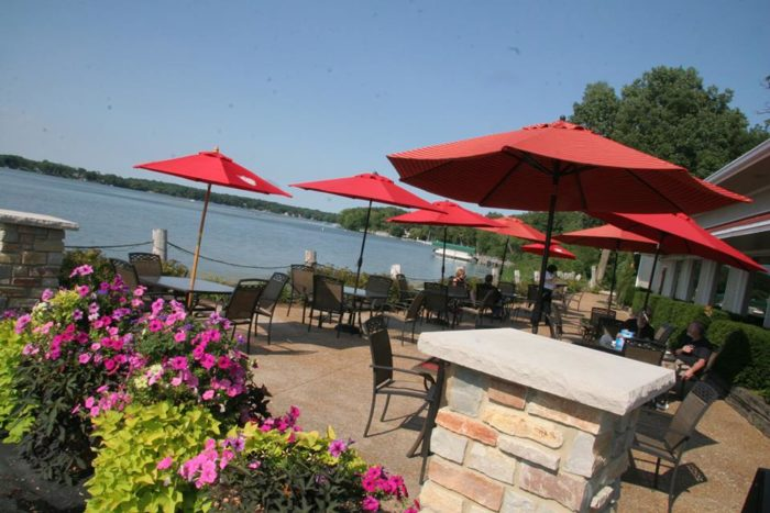 It has an absolutely fabulous patio for dining outside.