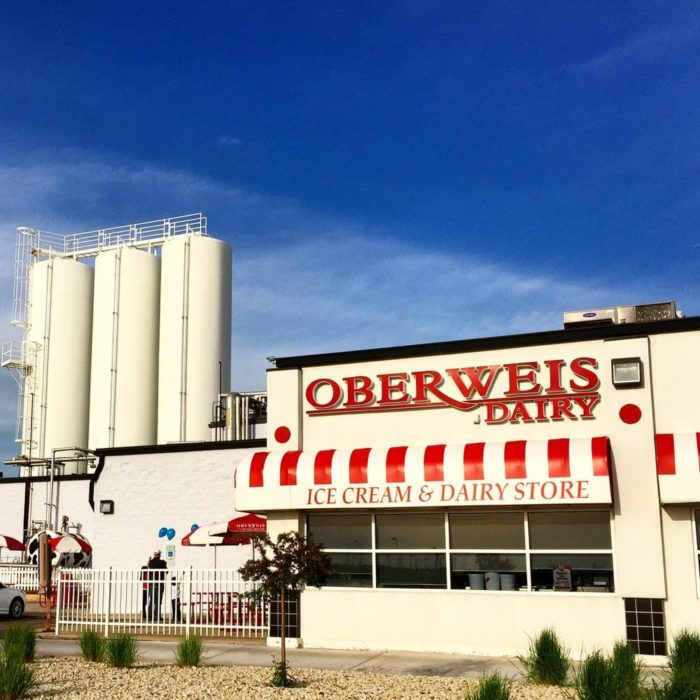 Oberweis serves the most famous ice cream in Illinois.
