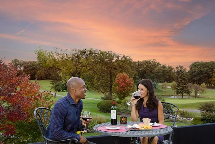 We recommend taking your meal outside, with a great view of the golf course.