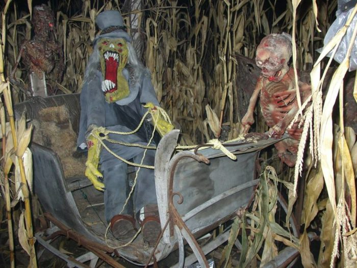 And there are plenty of scary sights along the way.