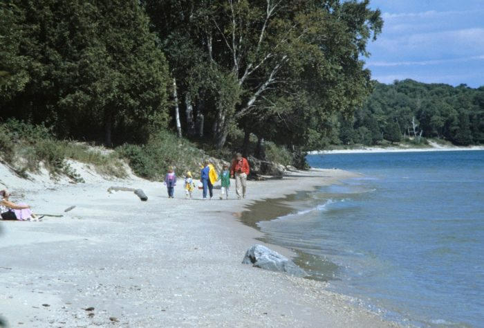 Other than a few buildings and the ferry dock, the island is a true retreat into nature.