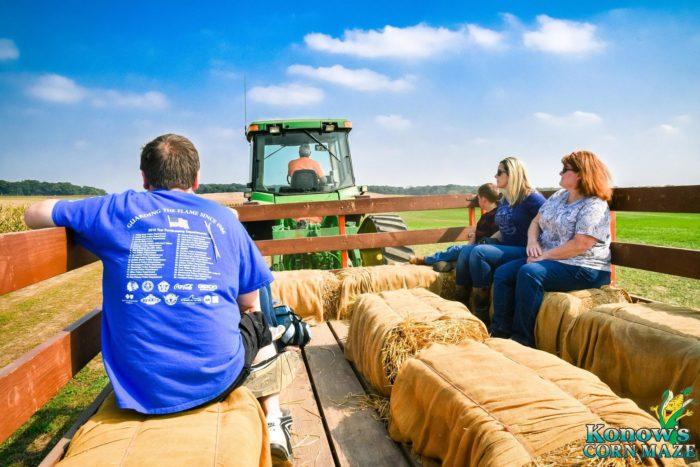 2. Go on a hayride.