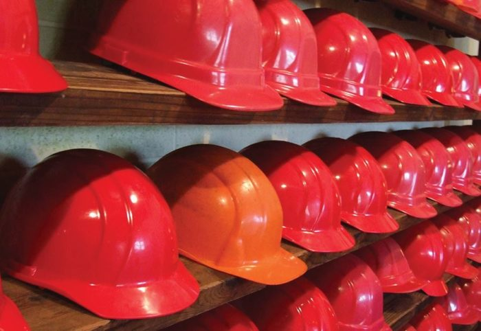 This isn't just some cheesy exhibit--it's a hard hat only area, a non-negotiable for going on this realistic tour.