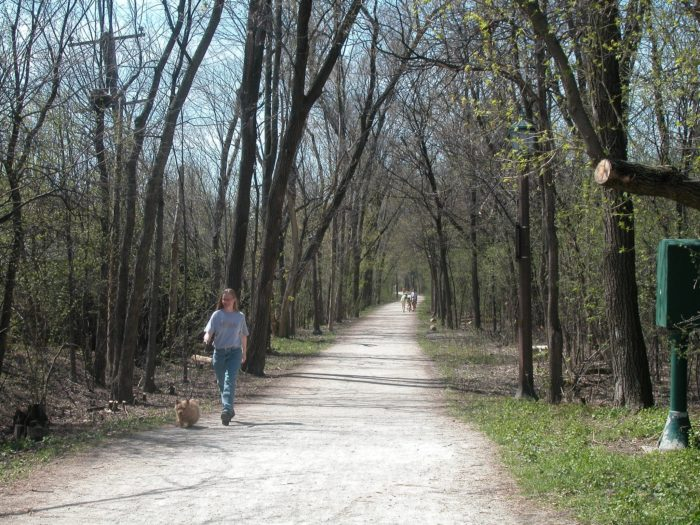 Whether you walk or hike, this is one of the most unique trails in all of Illinois.