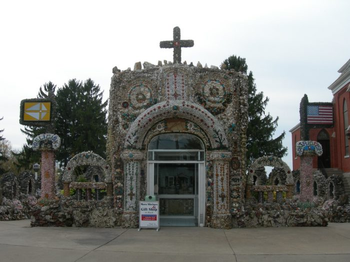 But this is actually a grotto, built by Father Mathias Wernerus between 1925 and 1931.