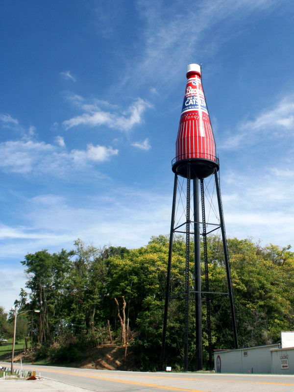 7. World's Largest Catsup Bottle, Collinsville