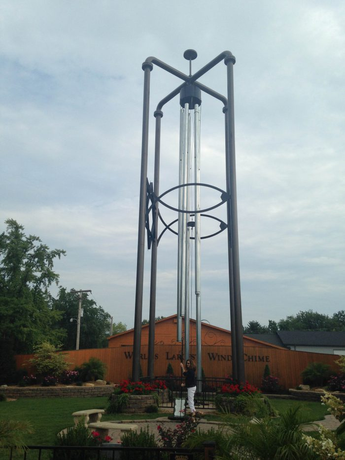 6. World's Largest Wind Chime, Casey