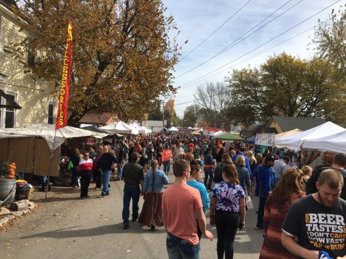 Hundreds of vendors set up shop to display their crafts.