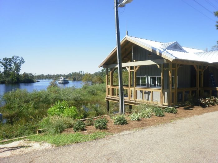The Bayou Lacombe stop offers up some gorgeous water views.
