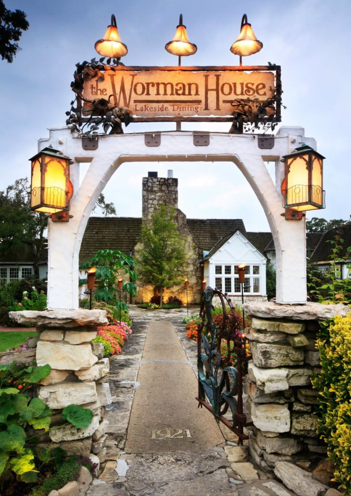 The historic Worman House used to serve as a country retreat for Frisco Railroad executive Harry Worman. Today, it's used as a banquet space for guests who reserve it beforehand.