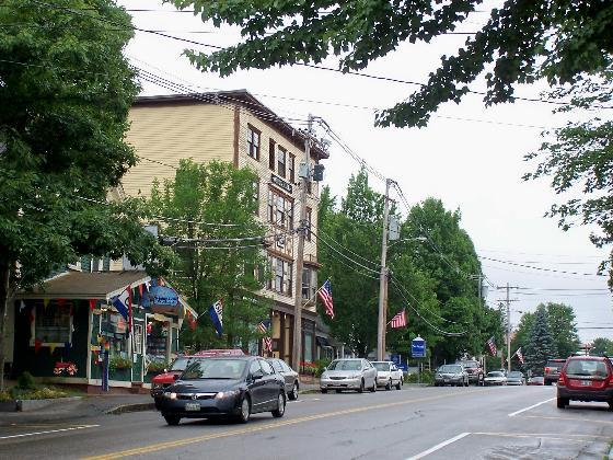 Downtown Bethel is everything a quaint village should be.