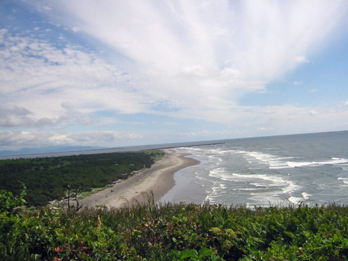 In 1862, Cape Disappointment was armed with smoothbore cannons to protect the mouth of the Columbia River from enemies during the Civil War.