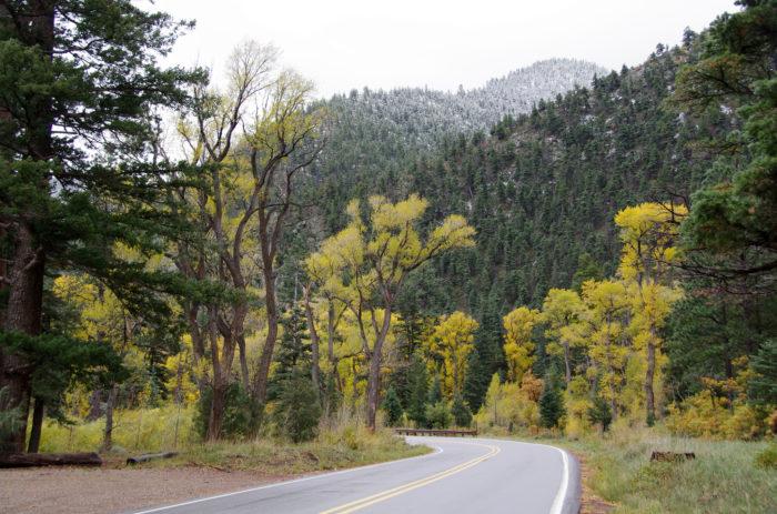 4. US-64 through Cimarron Canyon State Park