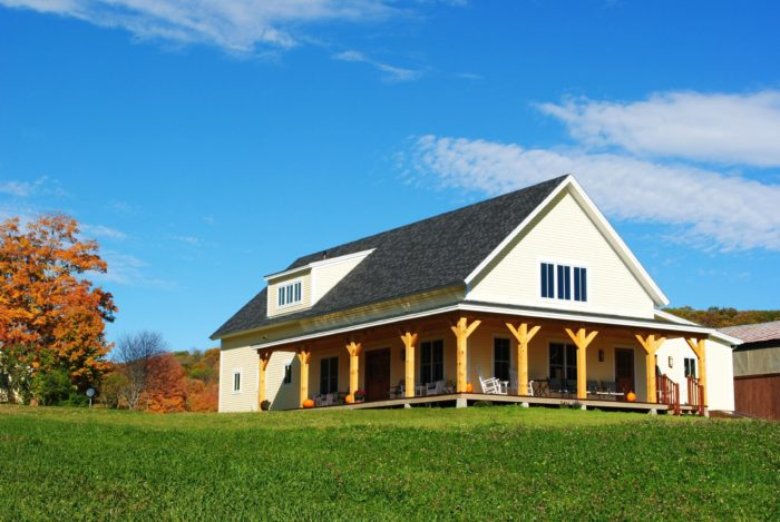 You'll love the post and beam building made from Eastern White Pine that was harvested right on the farm.