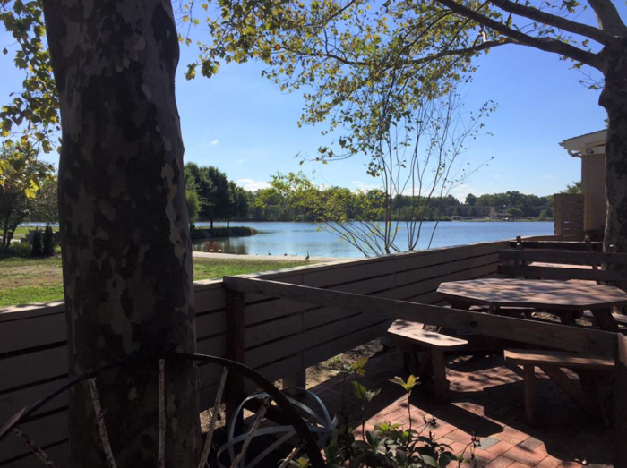 While the weather is still warmer, dine outdoors on the patio or kick back after work in the beer garden. You'll be surrounded by over 300 acres of parkland.
